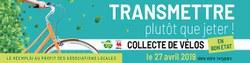 13ème collecte de vélos dans les recyparcs de Wallonie samedi 27 avril 2019