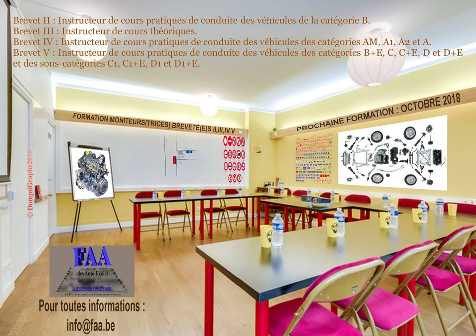 FORMATION INSTRUCTEUR AUTO ECOLE OCTOBRE 2018